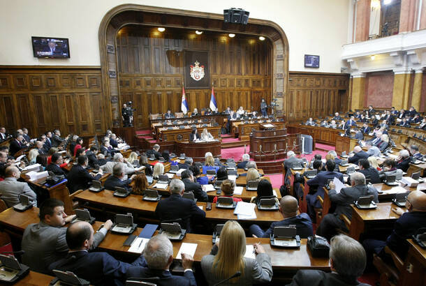 EMIL VAS: Serbian Assembly in session