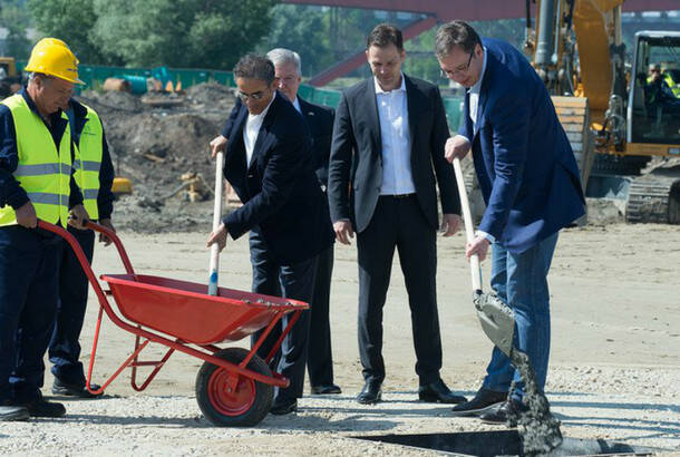 : The beginning of the work on Belgrade Waterfront- Prime Minister Aleksandar Vucic (on the far right)