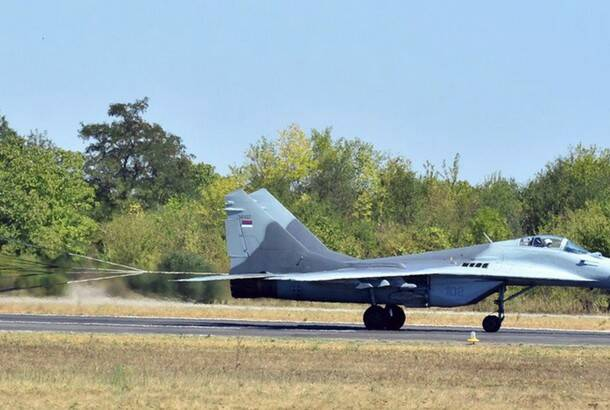 Srdjan Ilic: MiG 29 at the military airport in Batajnica, near Belgrade