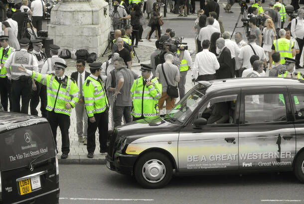DAVID HOLT: London anti-Uber taxi protest June 11. 2014