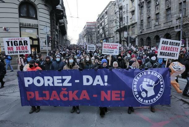 Protest radnika na internetu zbog retroaktivnog oporezivanja: U ponedeljak pregovori s predstavnicima Vlade