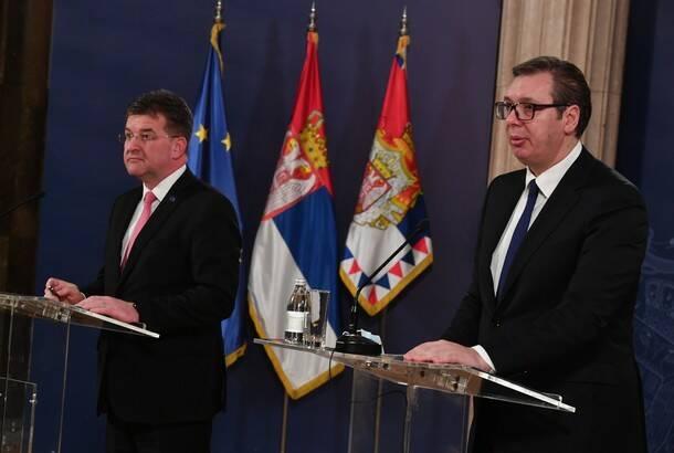Lajčak: EU očekuje nastavak dijaloga Beograda i Prištine i primenu svega dogovorenog; Vučić: Spremni smo da pregovaramo u svakom trenutku