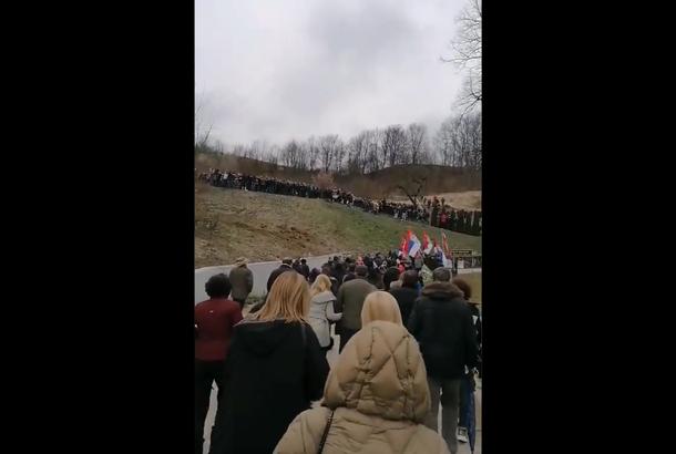 Protest u Dobrinji zbog najave početka radova na istraživanjima litijuma