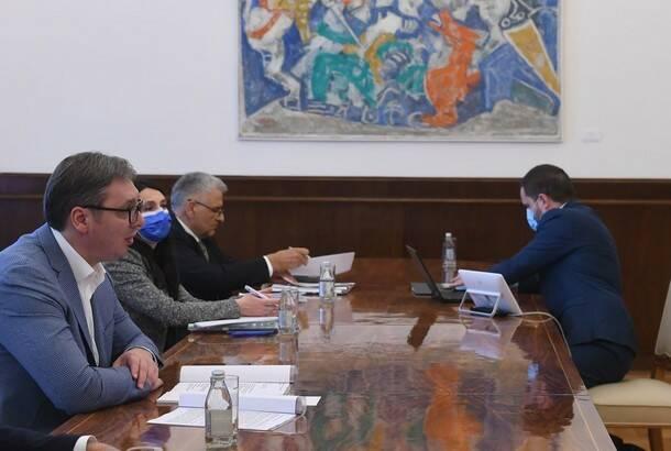 Vučić sa delegacijom MMF o novom aranžmanu: Prioriteti su ulaganja u infrastrukturu, životnu sredinu, nauku…
