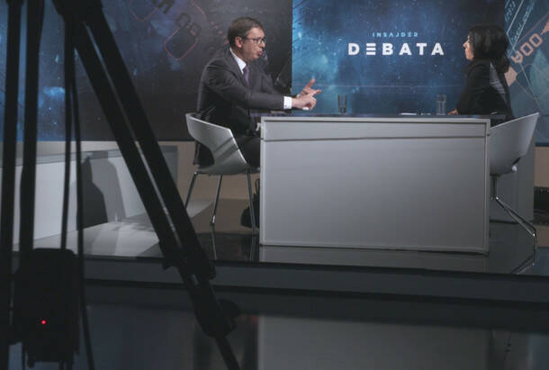 Insajder debata: Vučić o neispunjenim obećanjima, finansiranju SNS-a, Vulinu, Gašiću, bratu…