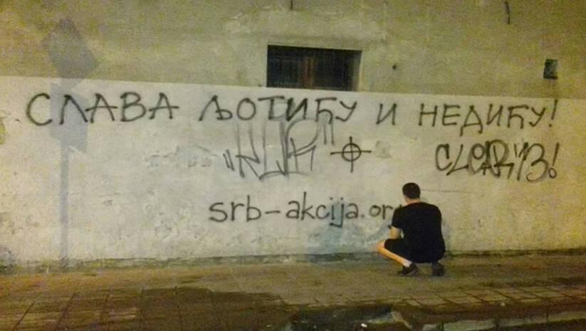 Printscreen: Grafiti u Novom Sadu