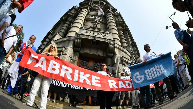 Izvor: Srđan Ilić: Protest radnika Goše ispred Vlade Srbije