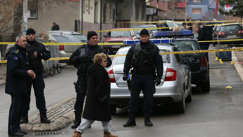 AP Photo/Bojan Slavković: Mesto na kome je ubijen Oliver Ivanović
