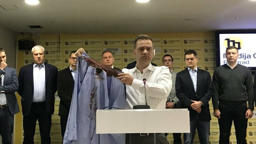 Borko Stefanović i predstavnici opozicije Foto: Twiter, Savez za Srbiju