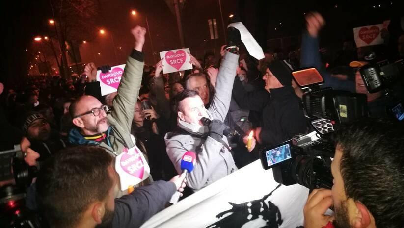Davor Dragičević, otac ubijenog Davida Dragičevića  na jednom od protesta u Banjaluci Foto: BETAPHOTO/Ljiljana Kovacevic