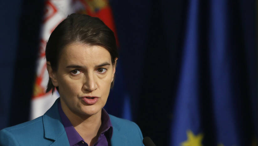 AP Photo/Darko Vojinovic: Ana Brnabić