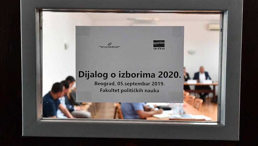 Sastanak vlasti i opozicije na FPN Foto: Srđan Ilić