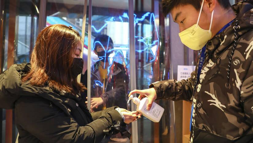 Mere zaštite od korona virusa u Vuhanu Foto:Betaphoto/ Chinatopix via AP
