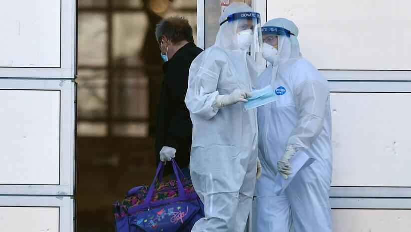 Beogradski sajam, privremena bolnica za pozitivne na koronavirus s blažom kliničkom slikom Foto: Srđan Ilić