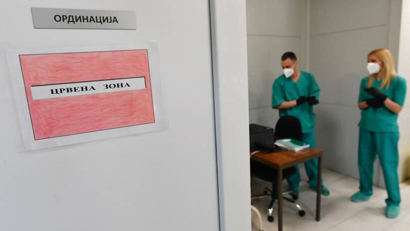 Otvaranje nove bolnice u VMC Karaburma za zaražene koronavirusom / Foto: Srđan Ilić