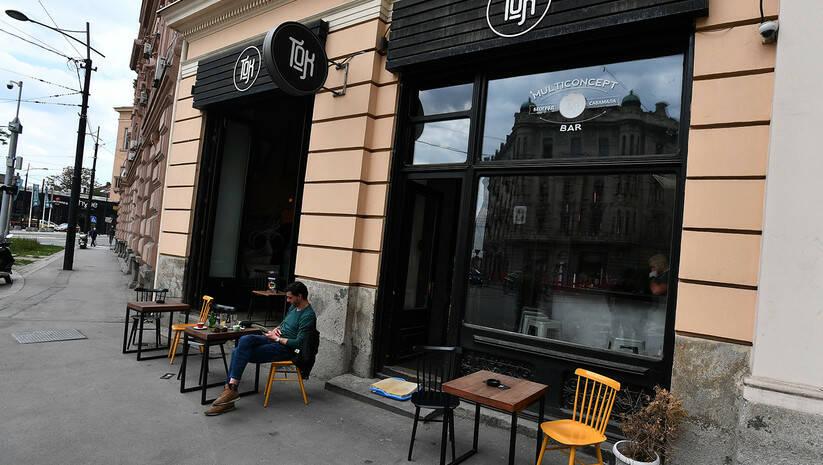 Otvaranje kafića i restorana nakon zatvaranja zbog koronavirusa Foto: Srđan Ilić