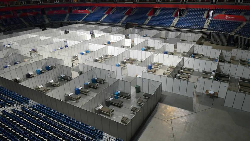 Jovo Mamula: Beogradska arena je pretvorena u privremenu kovid bolnicu, koronavirus Foto: Ministarstvo odbrane