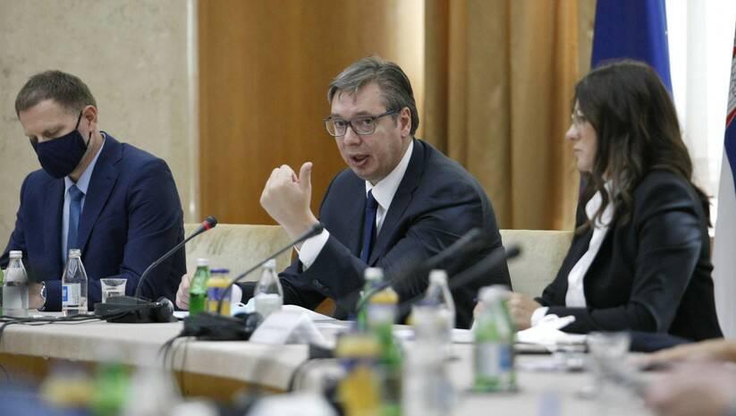BetaPhoto: Predsednik Srbije Aleksandar Vučić i Koordinatorka Nacionalnog konventa o Evropskoj uniji (NKEU) Nataša Dragojlović