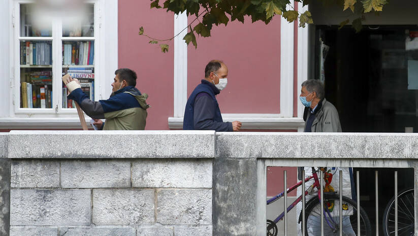 Ulice Ljubljane uoči uvođenja policijskog časa zbog koronavirusa Foto: Betaphoto/AP Photo