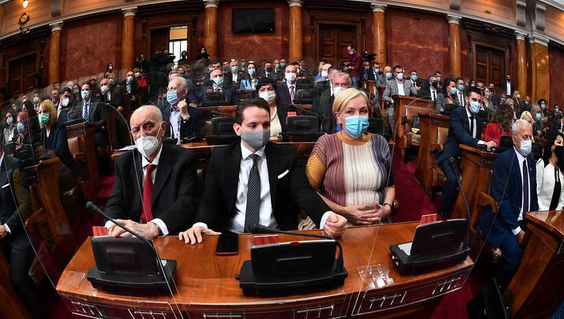 Skupština Srbije, nastavak konstitutivne sednice, 22. oktobar 2020. Foto: Srđan Ilić