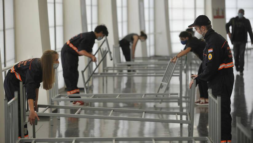 Pretvaranje zagrebačke Arena u kovid bolnicu, koronavirus Foto: AP Photo/Betaphoto