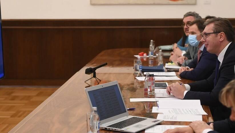 Video razgovor Aleksandra Vučić, Edija Rame i Zorana Zaeva u okviru inicijative mali Šengen Foto: Predsedništvo Srbije