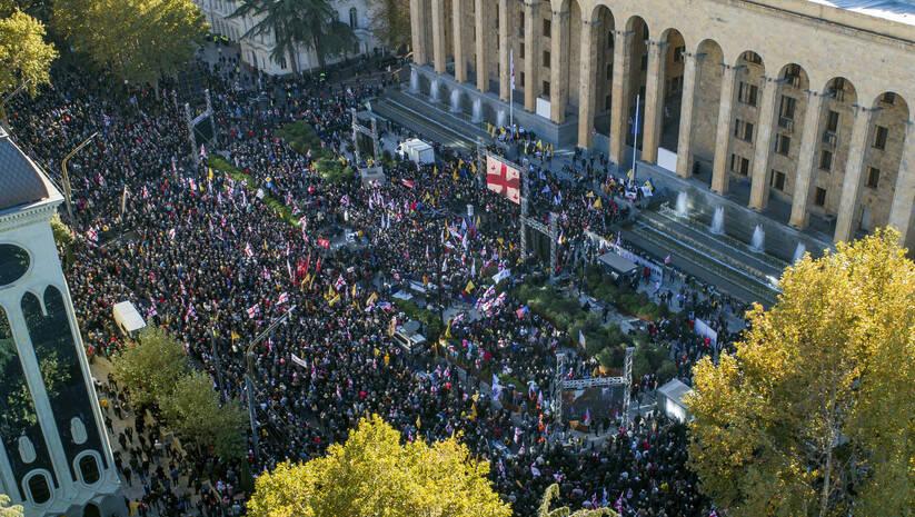 Protesti u Gruziji / Foto: AP Photo/Zurab Tsertsvadze