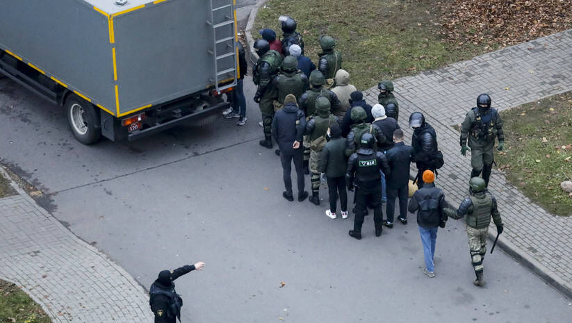 BetaPhoto: Policija u Belorusiji privodi demontrante