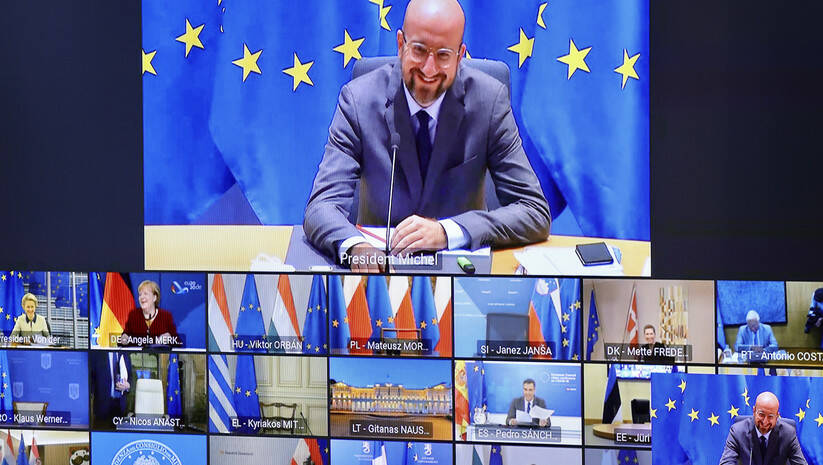 Samit lidera EU u Briselu, 19. novembar 2020, Foto: AP Photo/Olivier Matthys