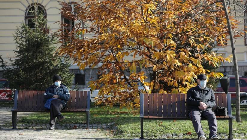 Užičke ulice tokom epidemije koronavirusa, novembra 2020. Foto: Betaphoto/ Dragan Karadarević