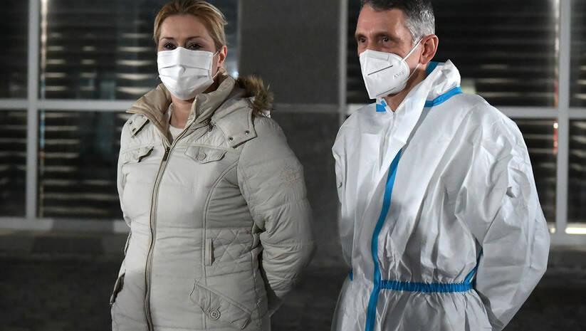 Ministar odbrane Nebojša Stefanović danas je obišao privremenu kovid bolnicu u beogradskoj Areni / Foto: Jovo Mamula/Ministarstvo odbrane