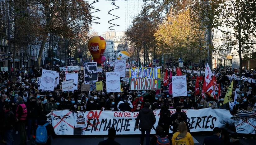 Protest u Parizu Foto: AP Photo/Francois Mori/Betaphoto