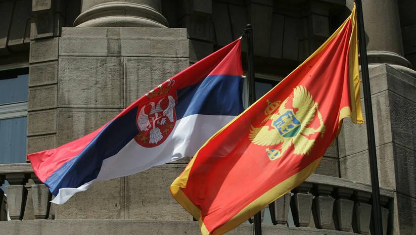 Zastave Srbije i Crne Gore Foto: Srđan Ilić