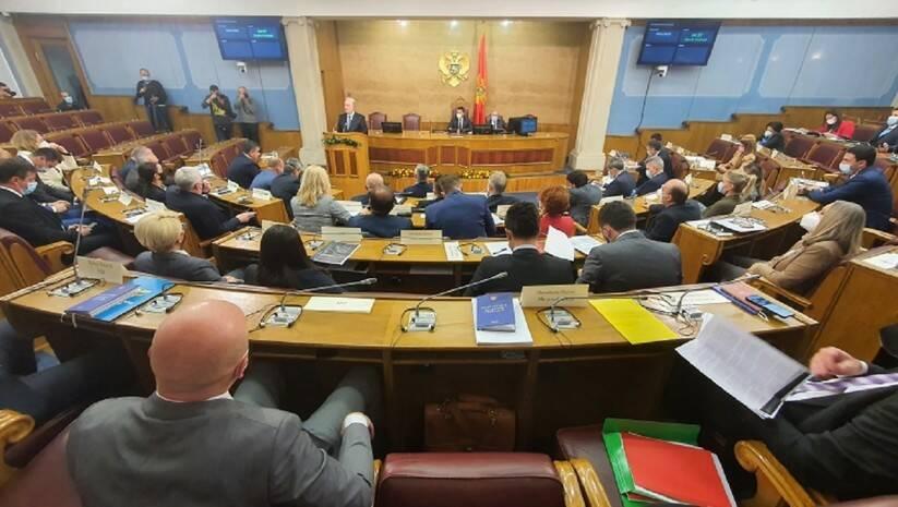 Zdravko Krivokapić izlaže ekspoze u skupštini Crne Gore, 2. decembar 2020, Foto: Skupština Crne Gore