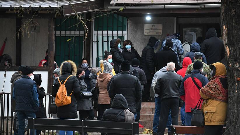 Kovid ambulanta u Zemunu tokom epidemije koronavirusa, decembar 2020. Foto: Srđan Ilić