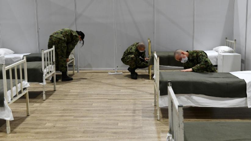 Ministarstvo odbrane: Privremena kovid bolnica na Novosadskom sajmu