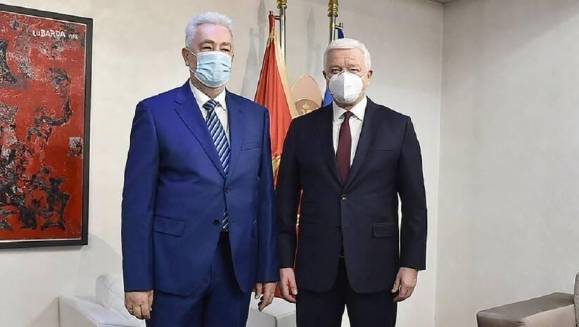 Duško Marković i Zdravko Krivokapić, primopredaja dužnosti premijera, 7. decembar 2020, Foto: Twitter/Duško Marković