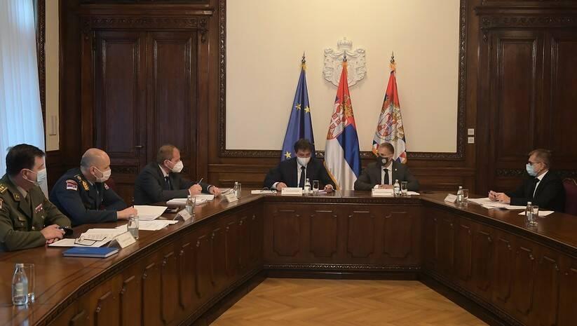 Sednica Biroa za koordinaciju službi bezbednosti, 8. decembar 2020, Foto: Ministarstvo odbrane