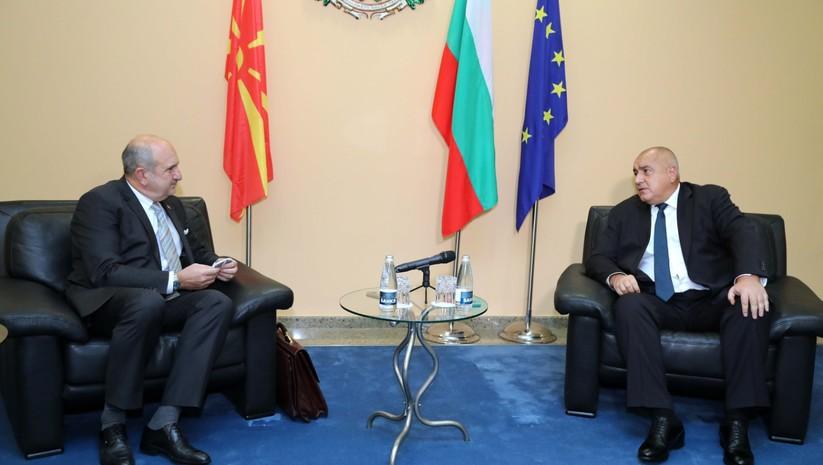 Sastanak bugarskog premijera Bojka Borisova i izaslanika Skoplja Vlade Bučkovskog, Foto: gov.bg