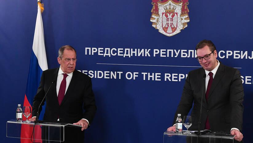 Aleksandar Vučić i Sergej Lavrov / Foto: Srđan Ilić