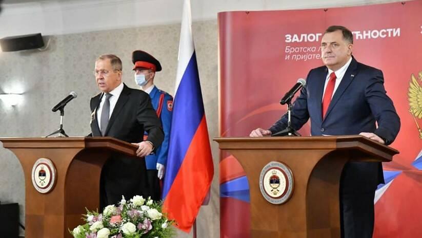 Sergej Lavrov i Milorad Dodik / Foto: Fejsbuk SNSD