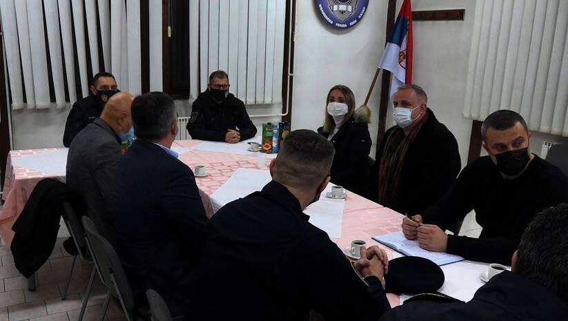 Sastanak ministra policije Aleksandra Vulina sa načelnikom i rukovodiocima Policijske uprave u Novom Pazaru, Foto: MUP
