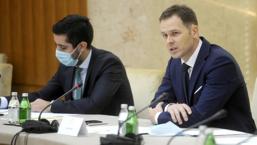 Tomislav Momirović i Siniša Mali na sastanku Radne grupe za realizaciju projekta izgradnje beogradskog metroa Foto: Vlada Srbije
