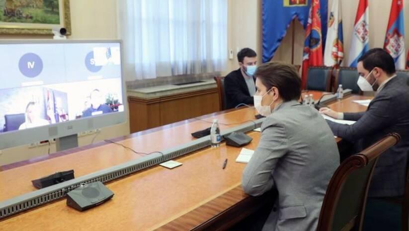 Brnabić i Varheji u video razgovoru / Foto: Vlada Srbije