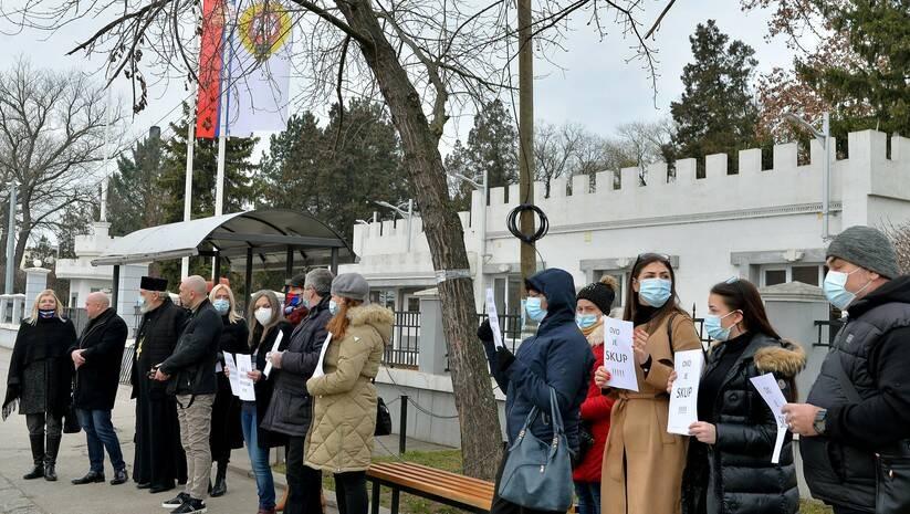 Protest članova Udruženja