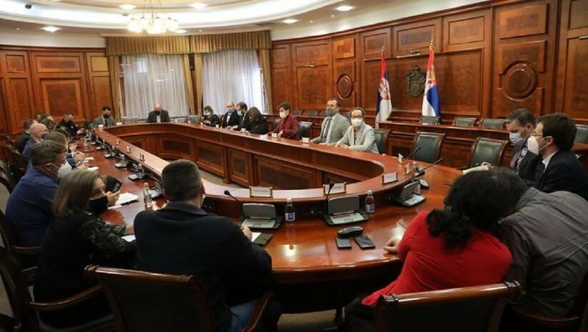 Sastanak Ane Brnabić i Maje Gojković sa članovima Radne grupe za zaštitu novinara, Foto: Vlada Srbije