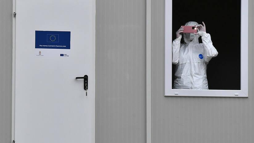 Testiranje na koronavirus na Torlaku Foto: Srđan Ilić
