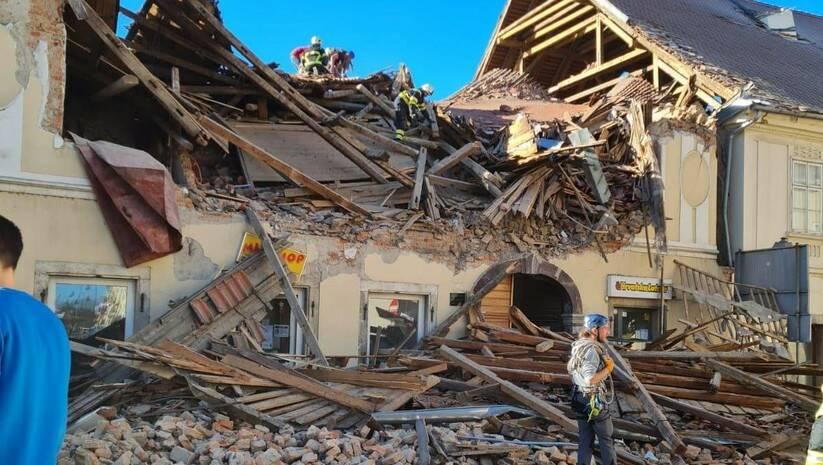 Petrinja nakon snažnog zemljotresa koji se osetio širom regiona Foto:  BETAPHOTO/HINA/DS)