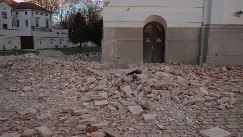 Zemljotres s epicentrom u blizini Petrinje ostavio je posledice i u Sisku Foto: BETAPHOTO/HINA/Tomislav PAVLEK