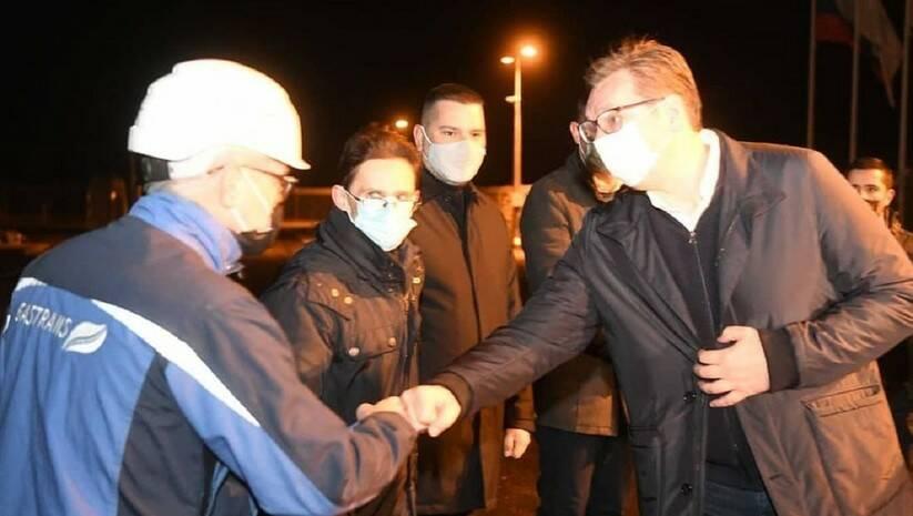 Aleksandar Vučić na otvoranju gasovoda Balkanski tok, Foto: Instagram @buducnostsrbije